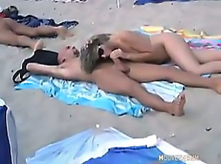 Amateur Beach Blowjob European French Nudist Outdoor