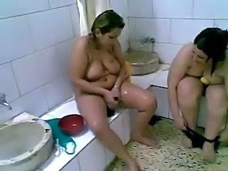 Arab Bathroom Chubby Mature