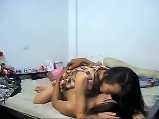 Amateur Asian Homemade Riding Student Thai