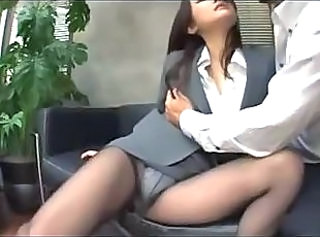 Asian Bus Japanese MILF Office Panty Pantyhose Secretary