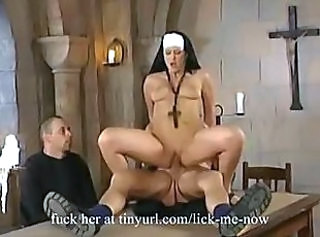 Hardcore MILF Nun Riding Uniform Vintage