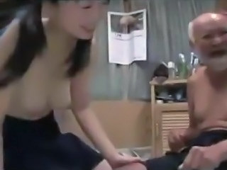Asian Cute Japanese Old and Young Pigtail School Small Tits Student