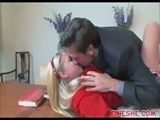 Blonde Cute Kissing Skirt Student Teen