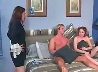 Mom Catches BabysitterFucking and Joins In (sexy..
