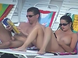 Beach Big Tits MILF Nudist Outdoor Voyeur