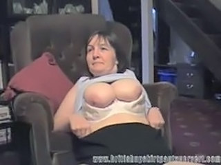 British milf gets her panties fucked for cash