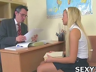 Blonde Cute Old and Young School Skirt Student Teen