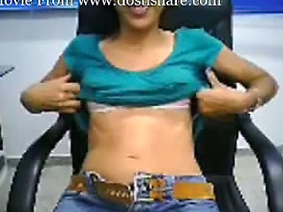 Indian Girls Tease On Web Cam