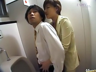 Eiko Mochizuki gets in the men's room..