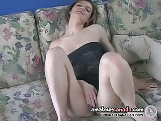 Geek Office Amy Fingers Wet Pussy At Home