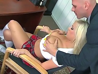 Naught Blonde School Girl Britney Amber Gets Fucked By Her Teacher
