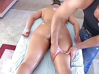 Phoenix Marie gets oil rubbed into her massive ass