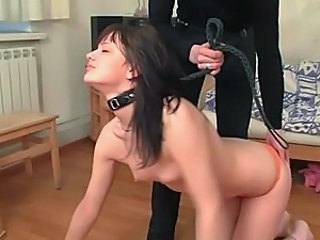 Teen Brunette Tied Up And Dominated