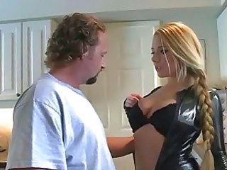 Leather catsuit milf fucked hard