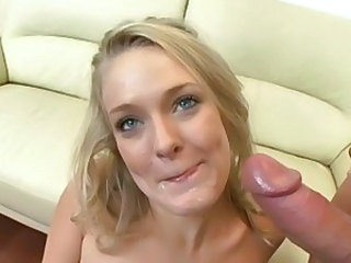 Saucy Kensey Knox gets her pussy pounded before getting drenched in warm nut juice