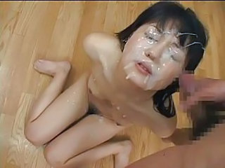 Asian Bukkake Cumshot Facial