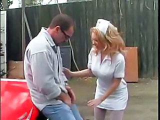 Big Tits Blonde Hardcore MILF Nurse Outdoor Pornstar Uniform