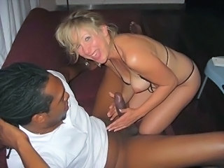 Amateur Handjob Homemade Interracial MILF Wife