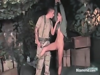 Two hot sexy horny army slut gets part1