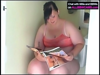 Amateur BBW Teen Toilet