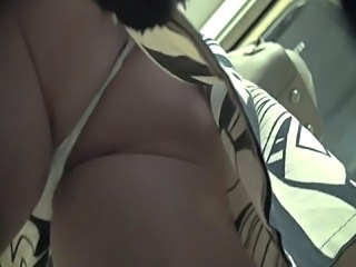 Upskirt White Thong On Metro