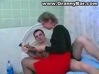 Older Granny Fucked by her Grandson