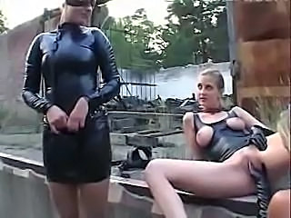 Babe Fetish Latex Lesbian Outdoor