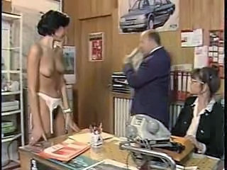 European French MILF Office Vintage