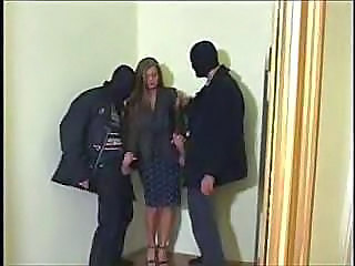Clothed Fetish Forced Handjob Threesome
