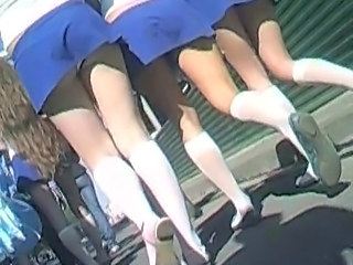 Cheerleader Skirt Uniform Upskirt