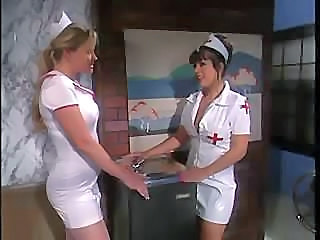 The nurse&'s uniform gets torn while some hot fucking goes on