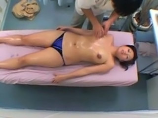 Asian Big Tits  Japanese Massage MILF Oiled Voyeur