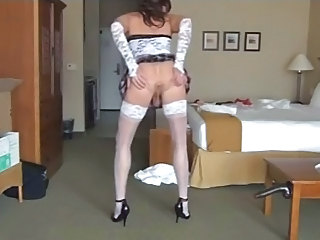 Horny Cd Enjoys Sex Toys - Crossdresser