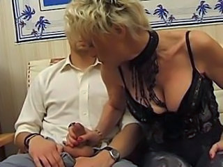 Big Tits French Handjob Lingerie MILF