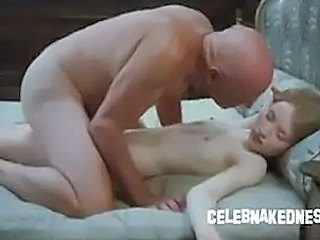 Celeb emily browning nude and skinny laying prone on a bed