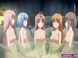 Hentai cuties in the bath