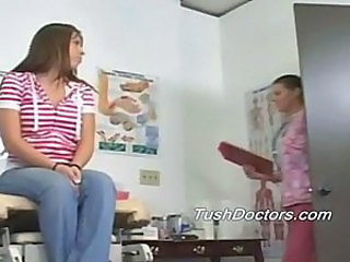 Stephanie gets her ass and pussy college physical