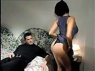 Italian Milf Brunette Strokes And Sucks Cock