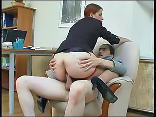 Anal Ass Clothed MILF Pantyhose Redhead Riding