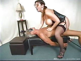A Nasty Milf Mistress Alix Abuses A Strapped Down Old Man