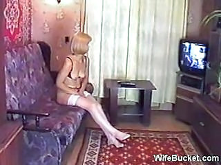 Amateur Homemade MILF Russian Stockings