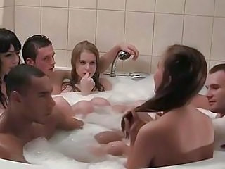 Freaky Party Group Sex In The Shower
