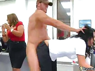 Birthday Party At Work With A Naked Stripper