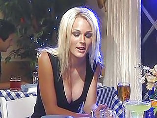 Cute Blonde Fucked In Restaurant