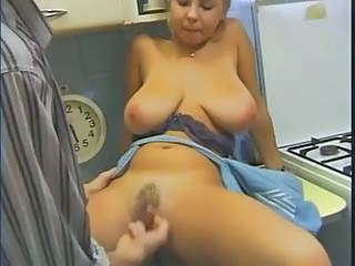 Amazing Big Tits Cute Hairy Kitchen MILF Natural SaggyTits Vintage