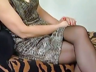 European German Mature Older Stockings