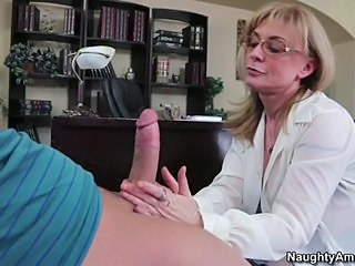Alluring Nina Hartley drools on this tasty fuck stick