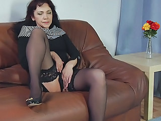 Masturbating Mature Stockings