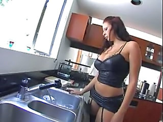 Amazing Big Tits Kitchen MILF Pornstar