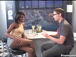 Amazing Ebony Interracial MILF
